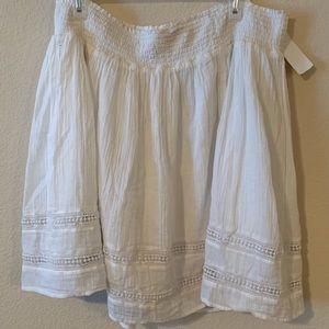 Flowy White Plus Size Skirt